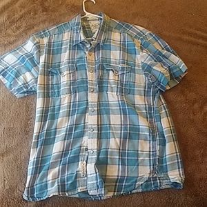 Lucky Shirt Button Up Large California Fit